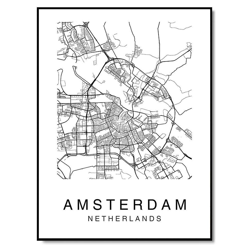 Amsterdam City In Holland Artwork In Art Print Home Decor Wall Art Poster D