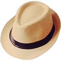 Westeng Sombrero de Paja Anti-Sol Sombrero de Jazz Anti-UV Amantes del Sombrero de Paja para Las Nuevas Maneras de la…