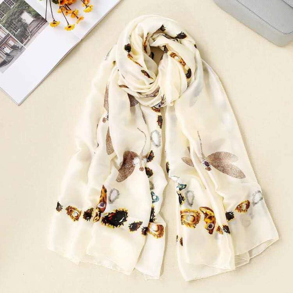 Silk Silk Scarf Female Printed Silk Spring Summer And Autumn Beach Sunscreen Shawl Scarf