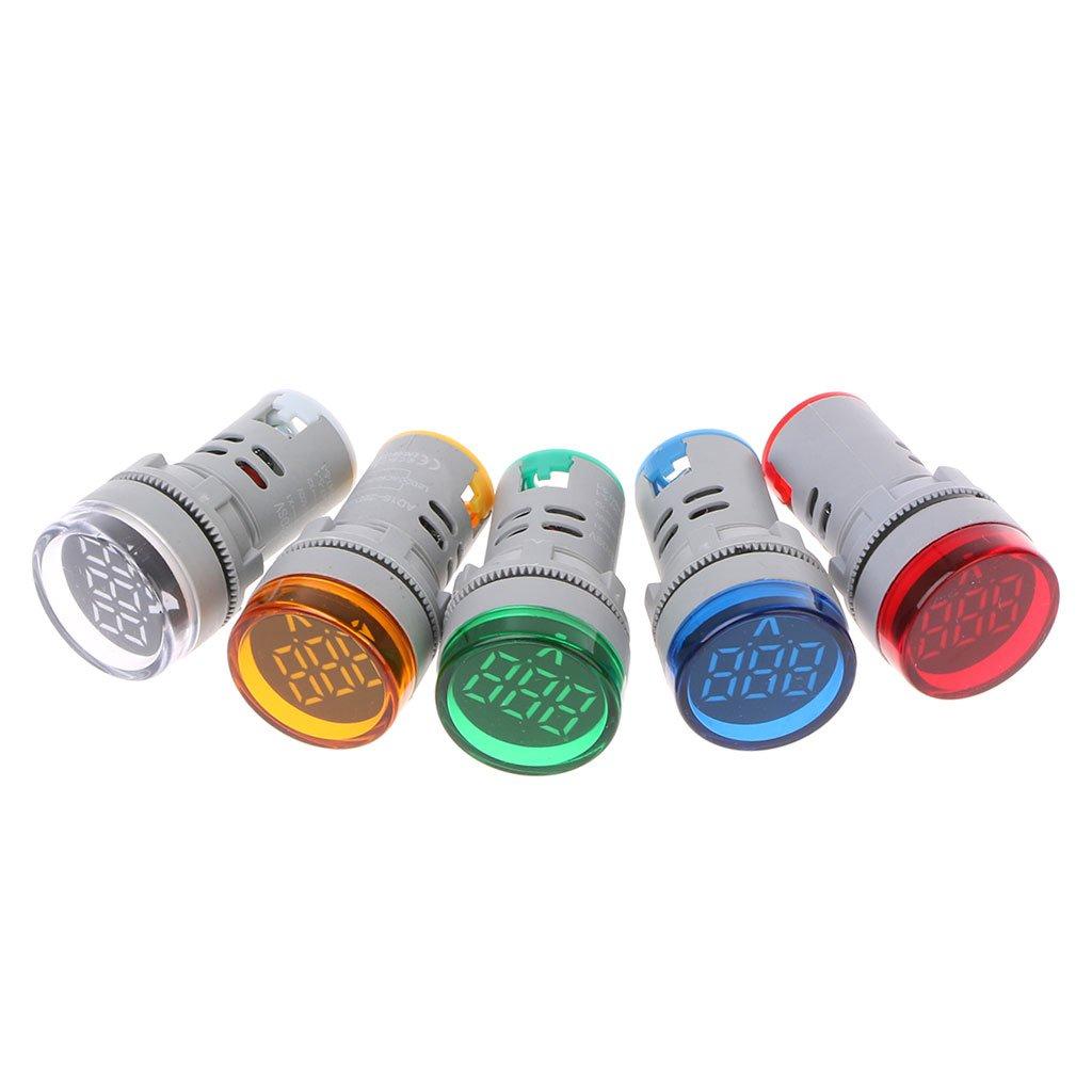 500 V Spannung Messger/ät Tester Volt Monitor Licht Panel Xurgm LED Display Digital Mini Voltmeter AC 60 Rot