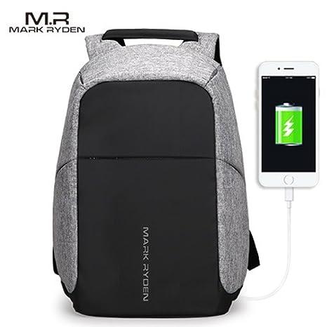 Mark Ryden Tag Series - Mochila Portátil Antirrobo Resistente Al Agua + Puerto de Carga USB