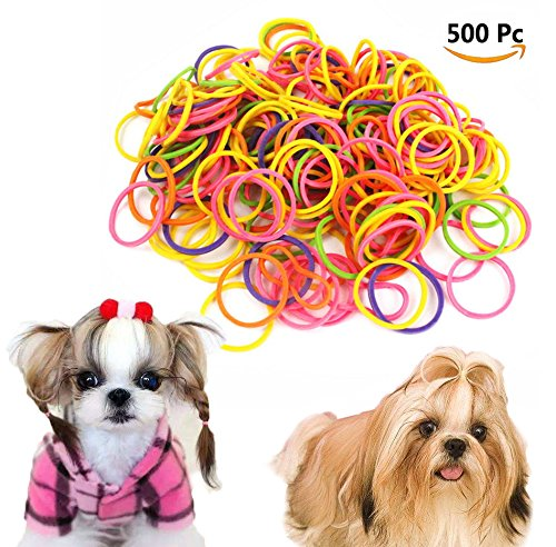 Dog Grooming Neon latex top knot bands