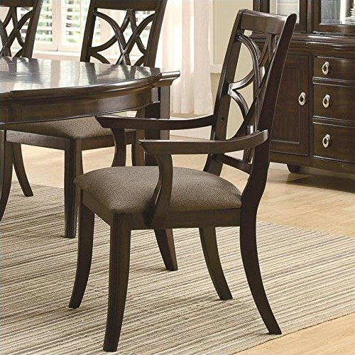 Coaster Home Furnishings Contemporary Arm Chair, Espresso, Set of 2