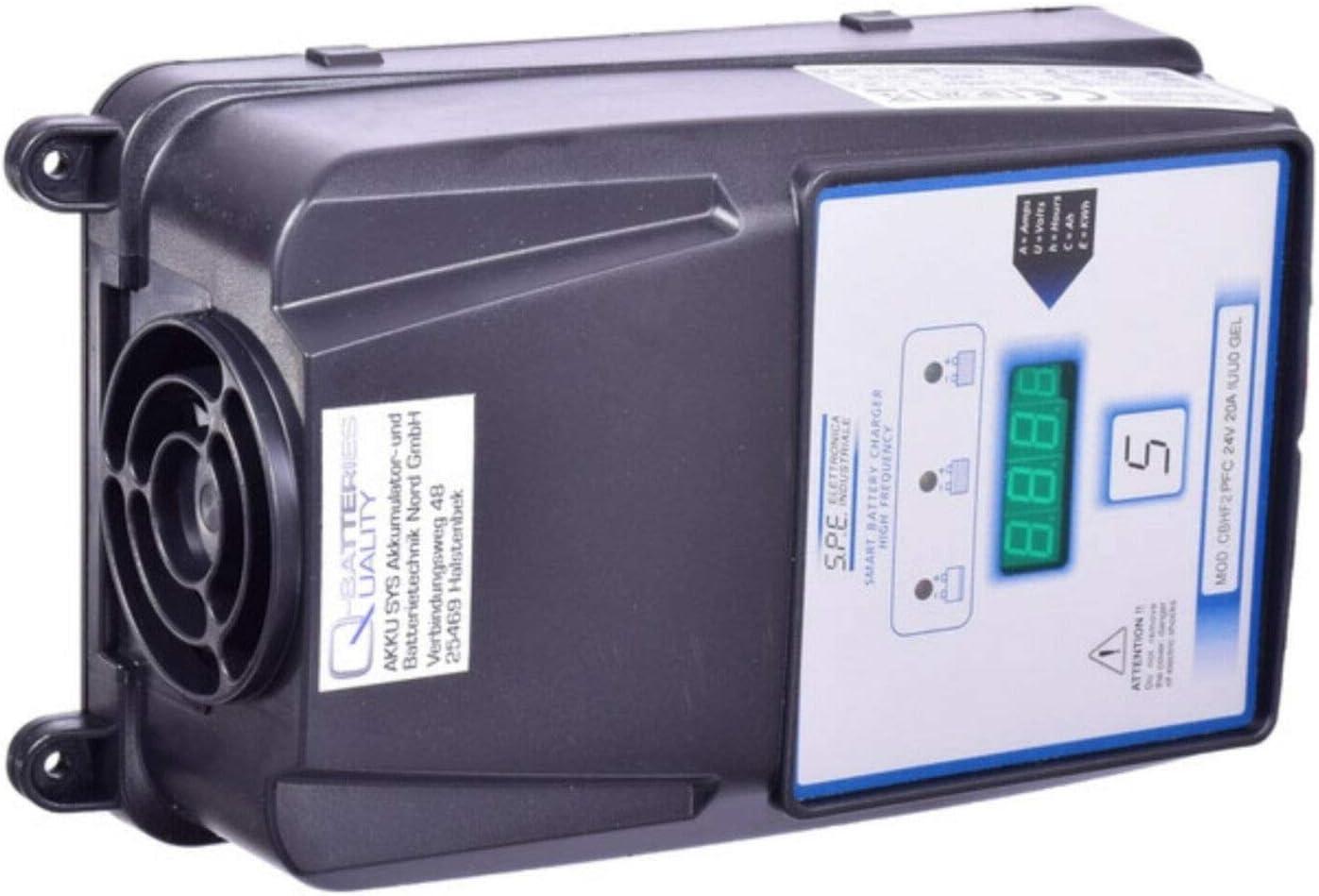 Cargador de batería de alta frecuencia S.P.E CBHF2 24 V 20 A – Eficiente – Batería de gel