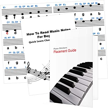 Piano Note Stickers with Free 12 Page Booklet - Perfect Piano Stickers for  Kids, Adults and Beginners who want to Learn Piano Notes the Fast Way