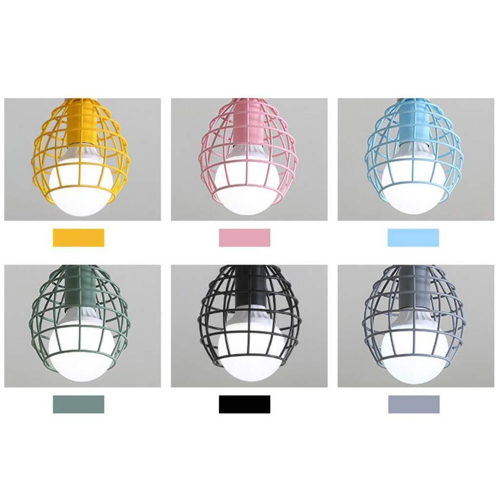 YANG Ceiling Light Retro Iron Net Industrial Style Loft American Ceiling Lamps European Bedroom Lamps,B