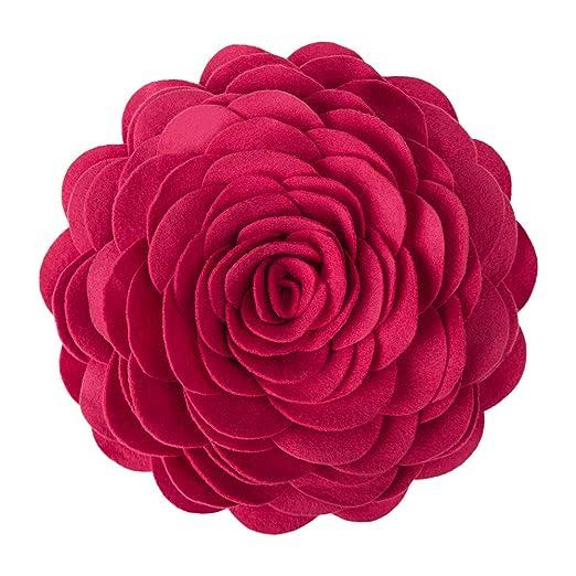 KINGROSE Hecho a mano Flores de rosa en 3D decorativo ...