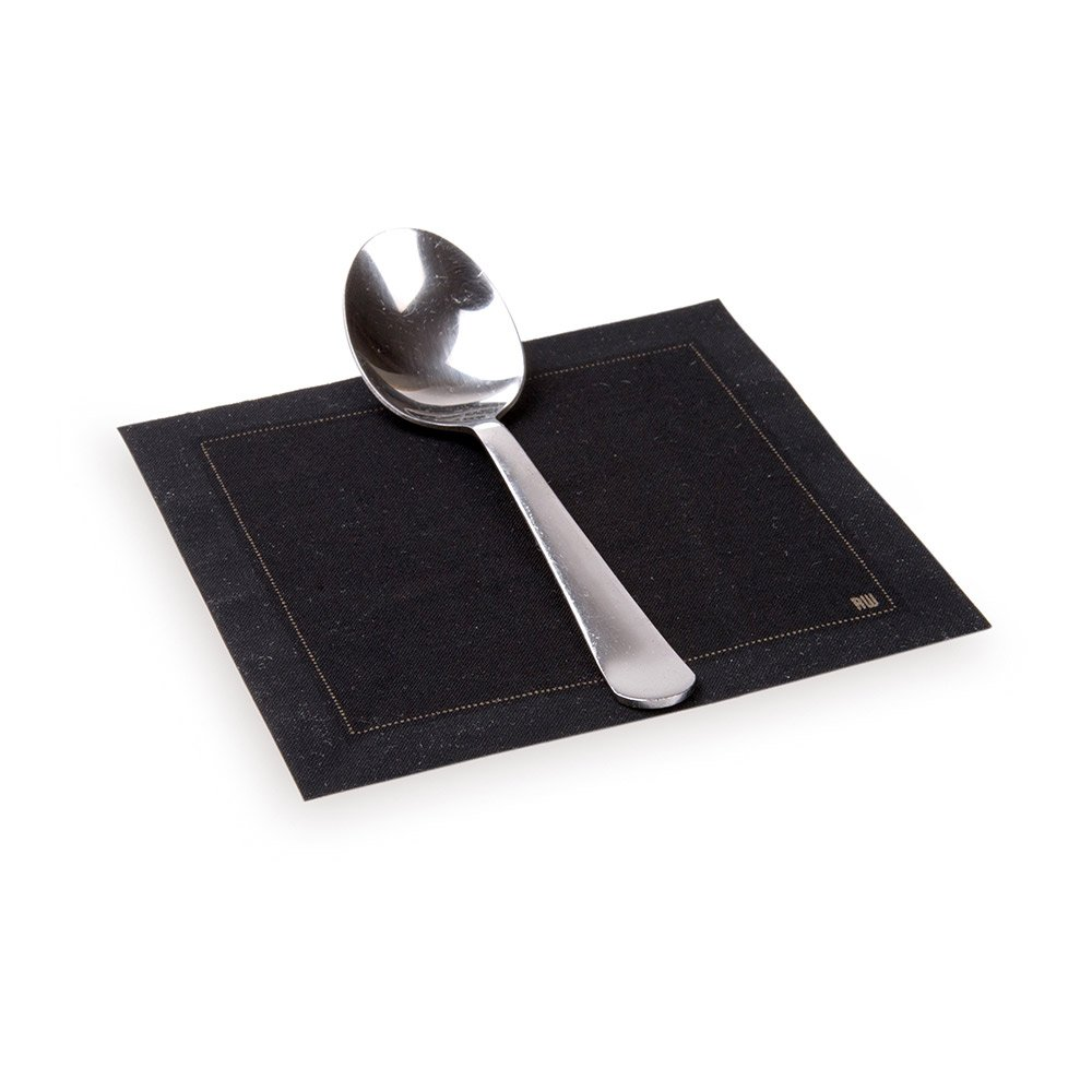 Napluxe Organic Cotton Cocktail Beverage Napkins - Soft and Durable 4.5'' x 4.5'' Black Paper Napkins - Disposable and Recyclable - 500-CT - Restaurantware by Restaurantware