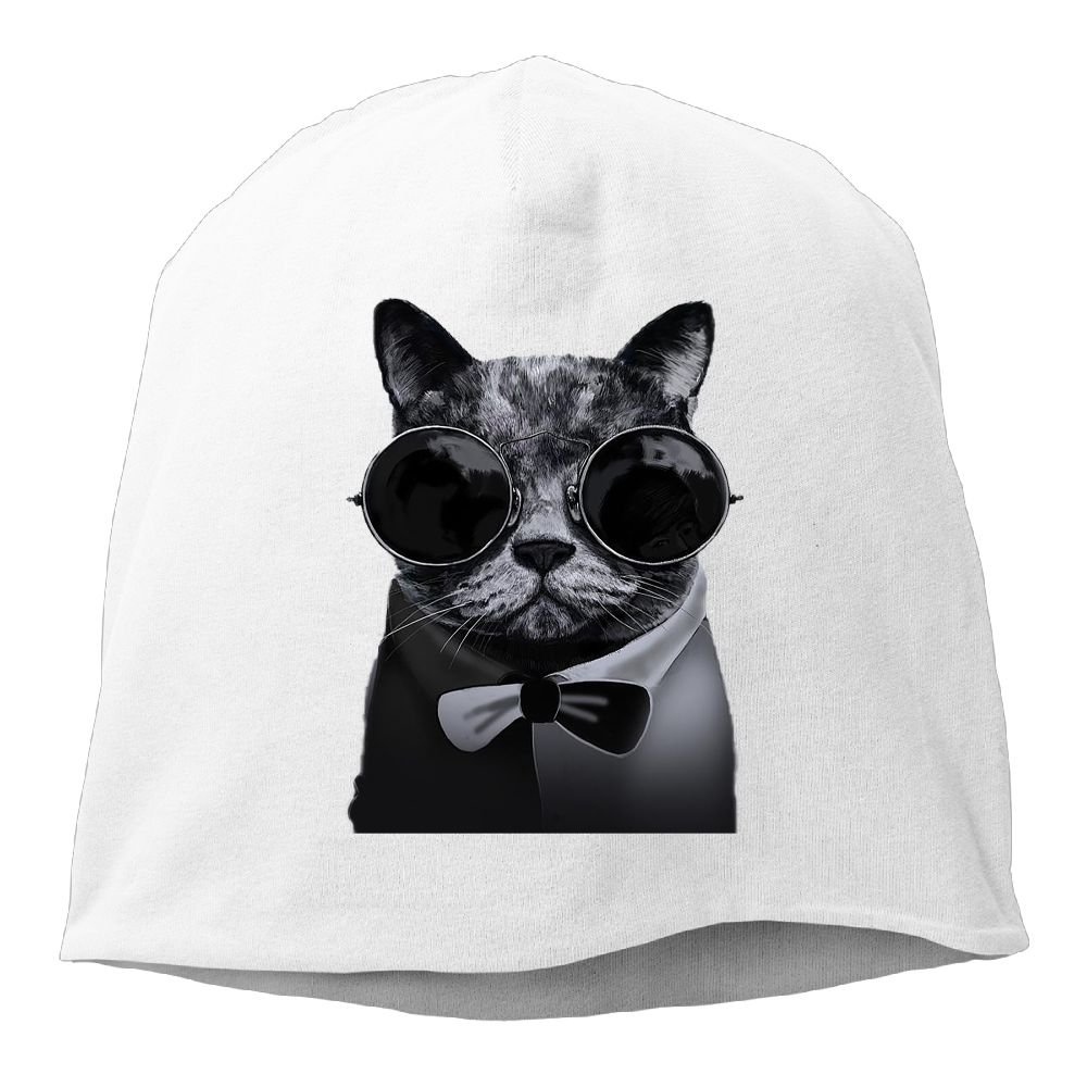 3b34667043 Amazon.com  Fashion Solid Color Cool Cat with Glasses Beanie Cap for Unisex  Ash One Size  Clothing
