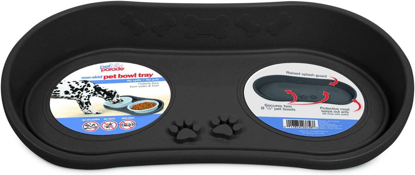 Pet Parade Non-Skid Pet Bowl Tray (Gray)