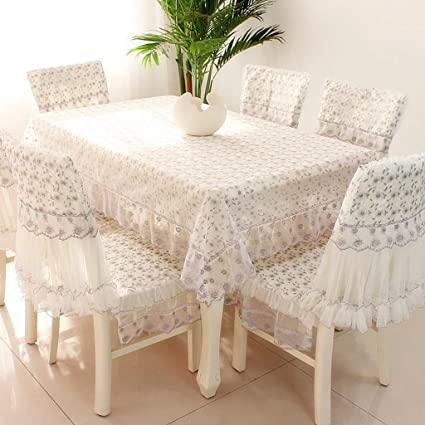 Amazon.com: Rectangular Coffee Table Tablecloth Tablecloth Chair ...