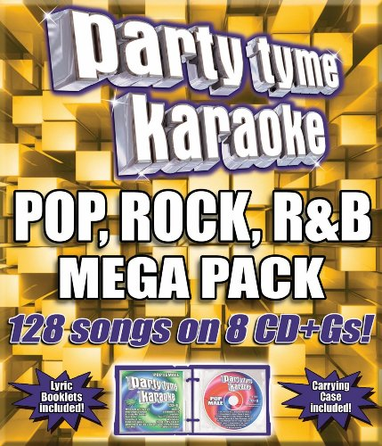 Party Tyme Karaoke - Pop, Rock, R&B Mega Pack (128-song Mega Pack) [8 CD] (Cdg Recording Karaoke System)