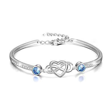 heart bangle silver baby double personalised bangles bracelet sterling