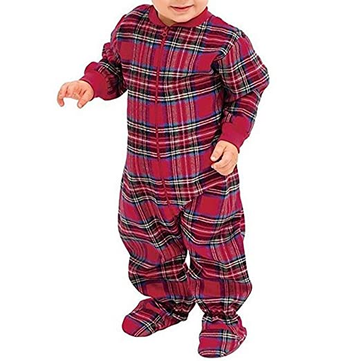 c3173461c Amazon.com  Kintaz Baby Boys Girls Footed Pajamas Sleeper Cotton ...