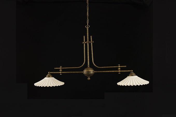 Lampadario Rustico Ceramica : Lampadario bilanciere in stile classico rustico a luci in ottone
