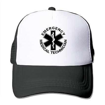 HFJS JDJG American Flag EMS Star Of Life EMT Paramedic Medic Unisex Men s  And Women s Adjustable 772c87621405
