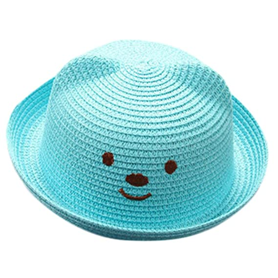 Sombrero De Sol De Orejas De Gato De Niños Y Niñas AIMEE7 Sombrero De Paja  De 88341199b71