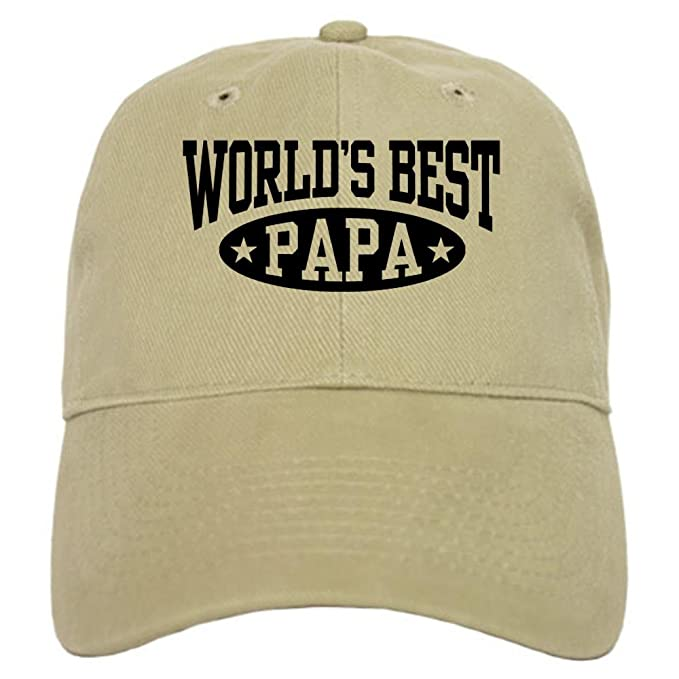 5865b6481f8 CafePress - World s Best Papa - Baseball Cap with Adjustable Closure