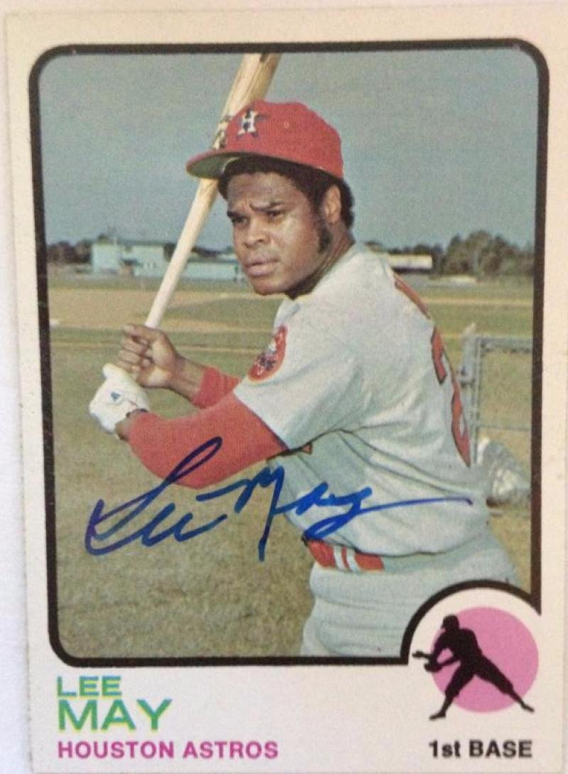 Autographs-original Lee May Autographed 1974 Topps #500 Sports Mem, Cards & Fan Shop