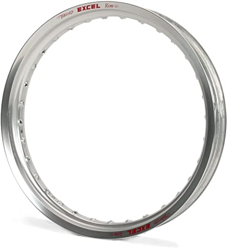 Excel GES411 Silver 19 x 2.15 32 Hole Takasago Rim and Excel XS8-13197 Spoke Set for Rims Bundle