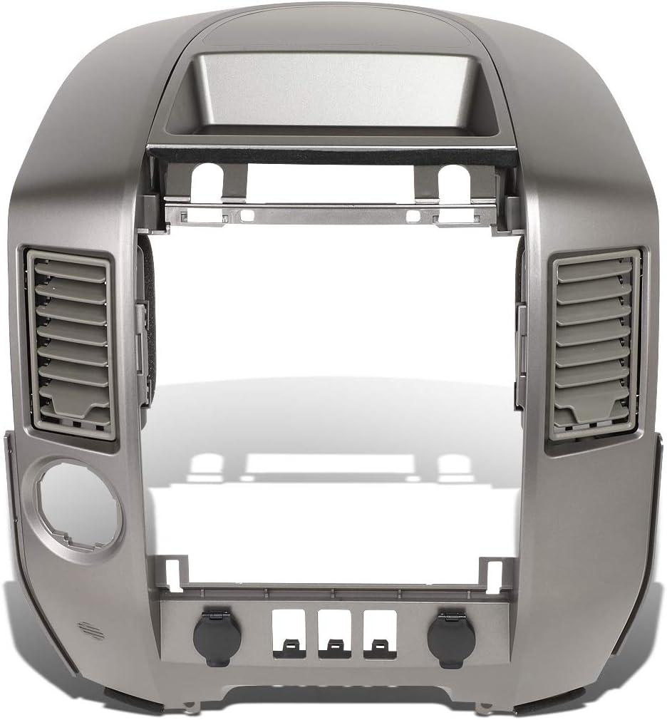 DNA Motoring ZTL-Y-0163 Factory Style Vent Doors Dash Radio Lid Non Speaker Center Console Bezel