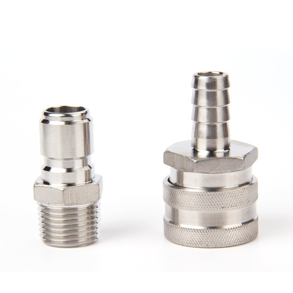 Stainless Steel Quick Disconnect Set/Include one 1/2'' barb male and one 1/2'' MPT female