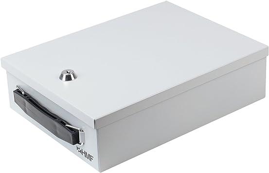 HMF 140-07 Caja de Seguridad para Documentos | 27 x 20,5 x 8 cm ...