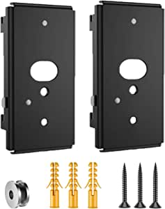 Black Wall Bracket (UFS-20) for Bose SlideConnect WB-50 (2 Pack)
