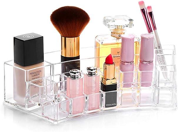 BSEL Maquillaje Caja Cosméticos,Caja Ordenada Cosmética De La Caja De Presentación De La Joyería del Lápiz Labial del Maquillaje del Organizador Cosmético Claro: Amazon.es: Hogar