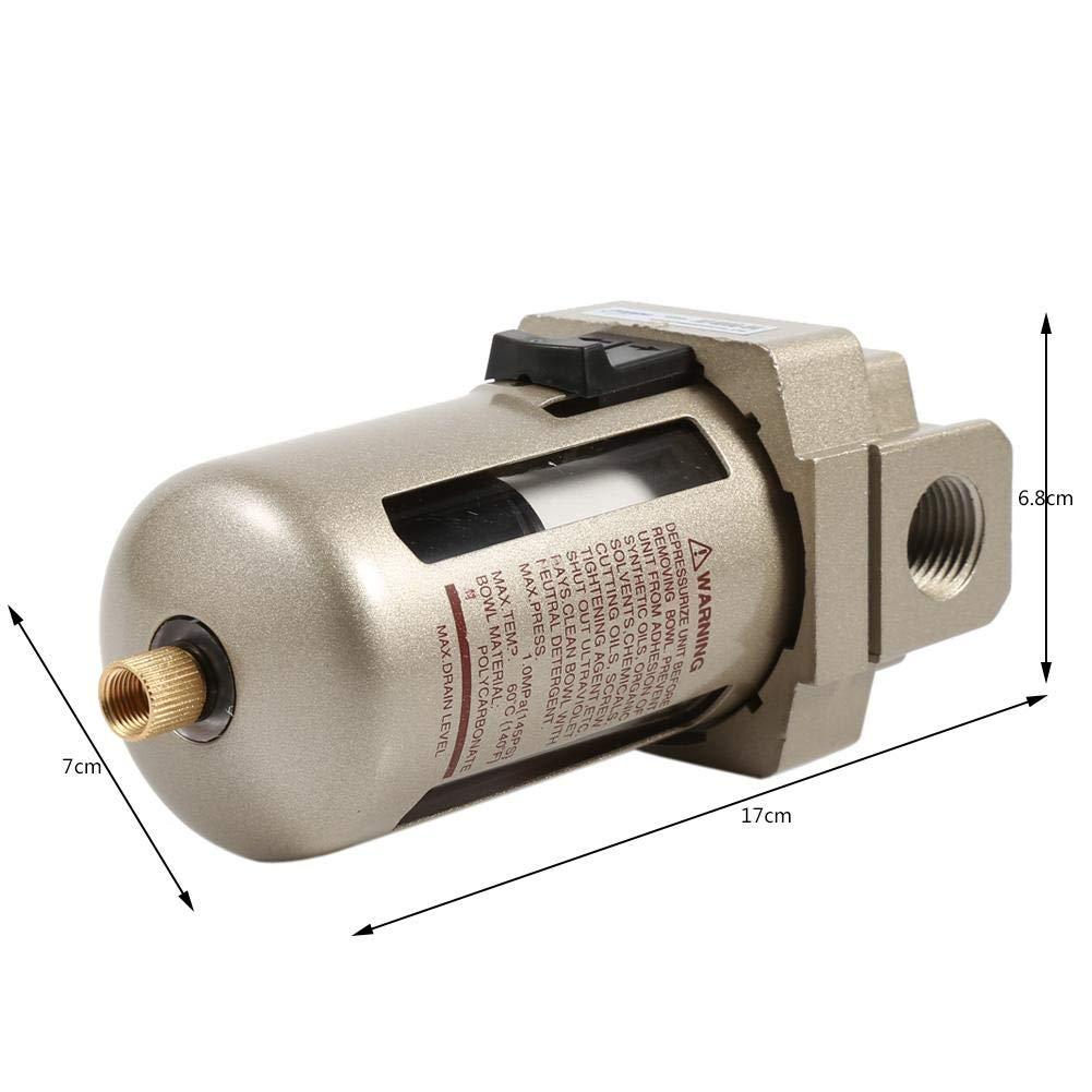 Zerodis Filtro de Aire Comprimido Regulador del Separador de Trampa de Humedad de Agua del compresor del Filtro de Aire de 1/2 : Amazon.es: Productos para ...