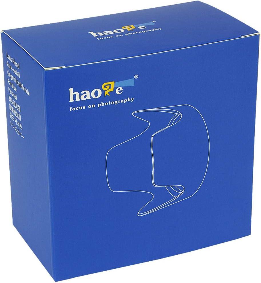 Haoge Bayonet Lens Hood for Nikon Nikkor AF-S 18-55mm f3.5-5.6G VR DX II Lens Replaces Nikon HB-69