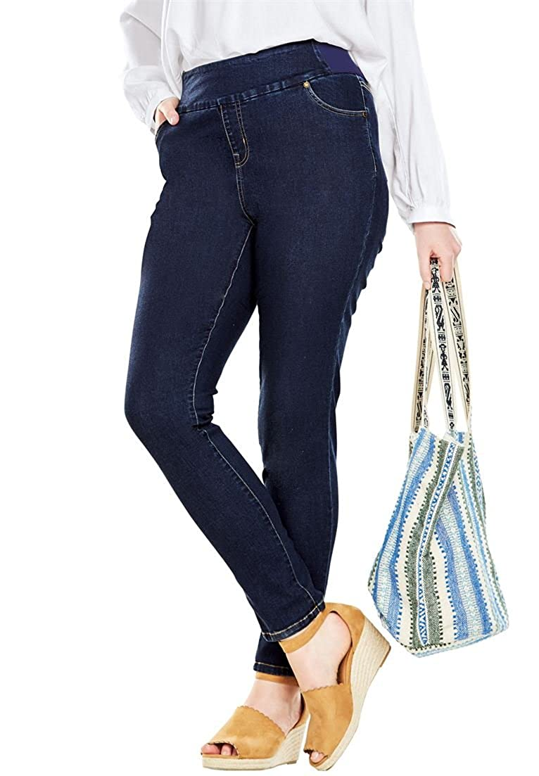 804028d66f94f Top10  Woman Within Plus Size Tall Smooth Waist Skinny Jean. Wholesale  Price 26.09. Sits slightly above the waist. Regular  28