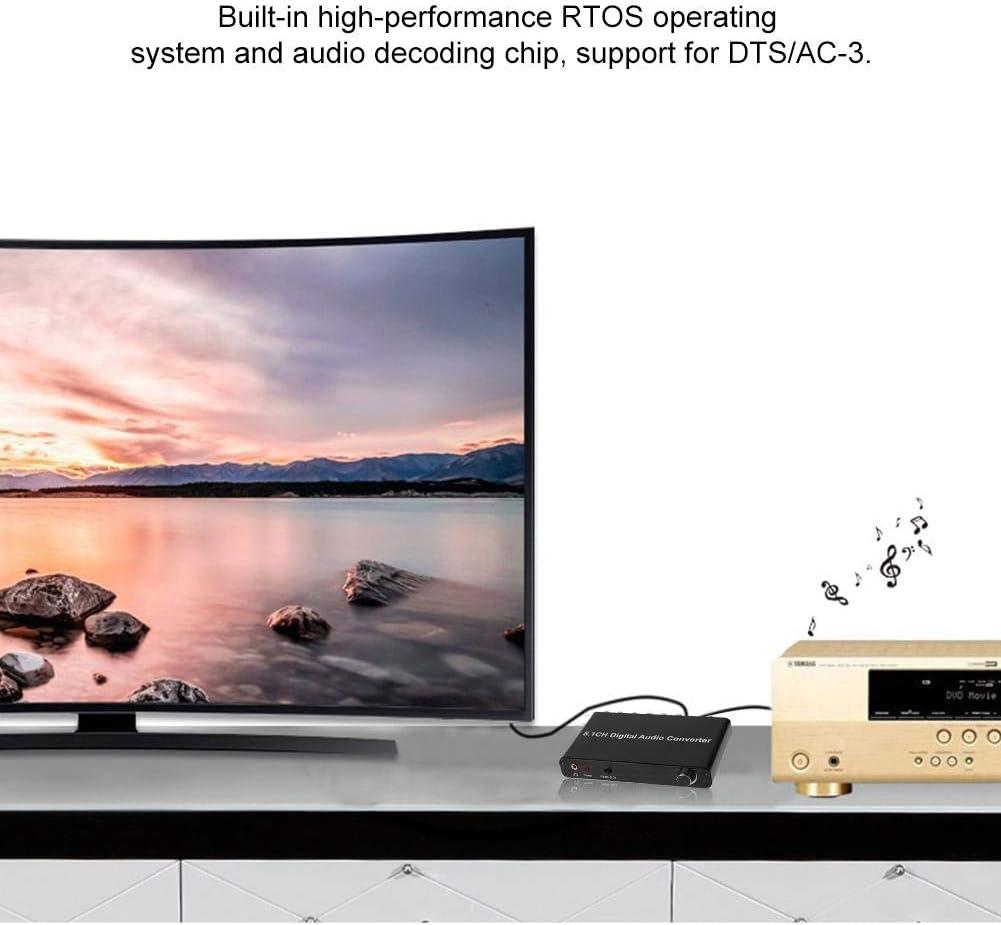 5.1 Digital Dts Ac3 Audio Converter, Dolby Channel Decoder Adaptador de Sonido Spdi con Hdtv/Blu-ray Dvd/Dvd / Ps3 / Xbox 360 Para Familias, Escuelas, Plazas, Salas de Conciertos, Cines: Amazon.es: Bricolaje y