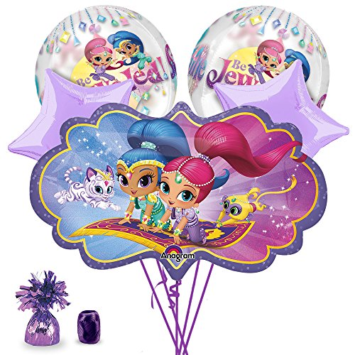 Costume SuperCenter Shimmer and Shine Deluxe Balloon Bouquet Kit - Party Supplies