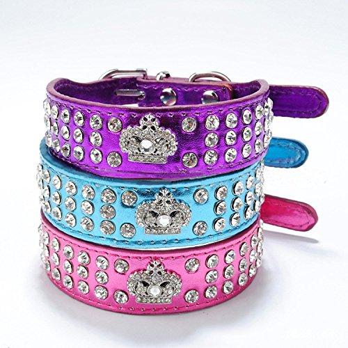 Bling Pet Collar (Pet's House Dog Collars for Small Dog Girls Bling (s, Rose))