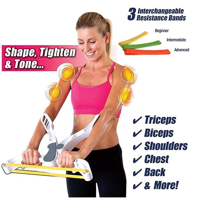 Dapang Ejercicio Muscular, Brazo Flexible, Varilla, Pecho, Hombro, Resorte, ejercitador, muñeca, Mano, agarrador, Poder, Twister: Amazon.es: Hogar