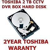 "Toshiba 2TB SATA HARD DISK CCTV DVR HARD DISK (2 YEAR WARRANTY FROM TOSHIBA) SUITABLE FOR CCTV DVR 4/8/16 CHANNEL DVR 3.5"" 5700 rpm 6Gb/s SATA Interface 6Gb/s 64MB BUFFER SIZE Cache ONLY FOR CCTV DVR Hard DISK WITH Toshiba 2 Year Original Warranty"