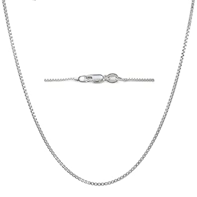 Sterling Silver 6mm Dainty Heart Pendant Necklace with Box Chain, 16