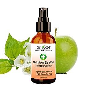 Anti-Wrinkle Swiss Apple Stem Cell Eye Gel Serum w/Argireline, Matrixyl 3000, Hyaluronic Acid, CoQ10.