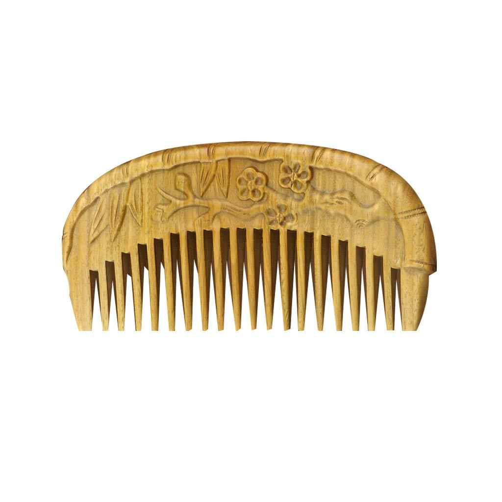 LIGONG ナチュラルサンダル木製くしヘアケア帯電防止マッサージかわいい稠密な歯手作りブラシひげくしサンダルウッド女性ギフトボックス2サイズ (サイズ さいず : B-11.5*5.3*0.8cm) B07QFWTJG2  B-11.5*5.3*0.8cm