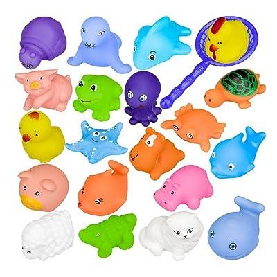 10PCS Juguete Baño Bebe, Lomire Juguetes Animados con Sonidos Toy Diverdidos Lindos para Agua Piscina Baño: Juguetes y juegos