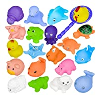 10PCS Juguete Baño Bebe, Lomire Juguetes Animados con Sonidos Toy Diverdidos Lindos para Agua Piscina Baño