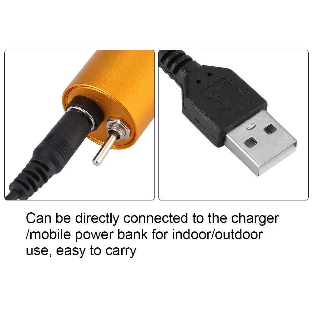 Pomya Mini Taladro el/éctrico aleaci/ón de Aluminio USB Recargable Mini Taladro el/éctrico Bricolaje Pulido Pulido m/áquina de Grabado Conjunto de Herramientas Naranja