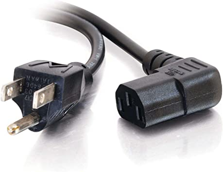 6 Feet Power Cable NEMA 5-15P to Angled IEC C13 Cable Matters 2-Pack 16 AWG Low Profile Right Angle Power Cord