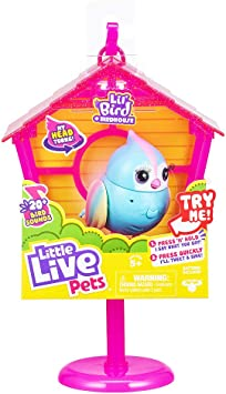 Little Live Pets Lil' Bird & Bird House - Rainbow Tweets - Interactive Fun - Moving Bird Heads with 20 + Sounds - Reacts to Touch, Turning Head - Batteries Included | for Ages 5+