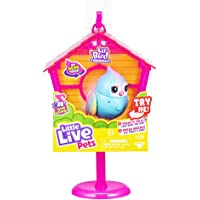 Little Live Pets Lil' Bird & Bird House - Rainbow Tweets - Interactive Fun - Moving Bird Heads with 20 + Sounds - Reacts…