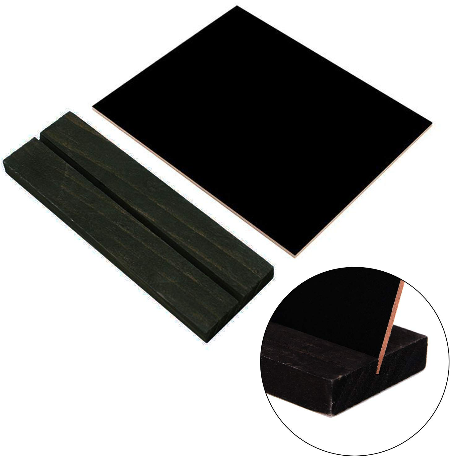 Mini Lace Rectangle Black Board with Tripod for Message Board Signs Woohome 10 PCS Mini Chalkboards Party Wedding Table Numbe