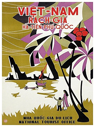 Amazon com: Vietnam Vintage Travel Poster Art Print Decor