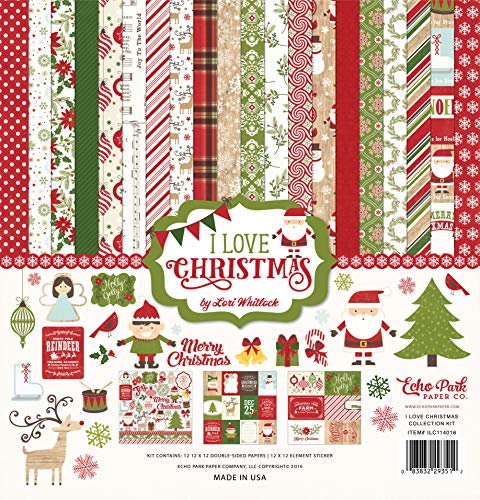 - Echo Park Paper Company I I Love Christmas Collection Kit