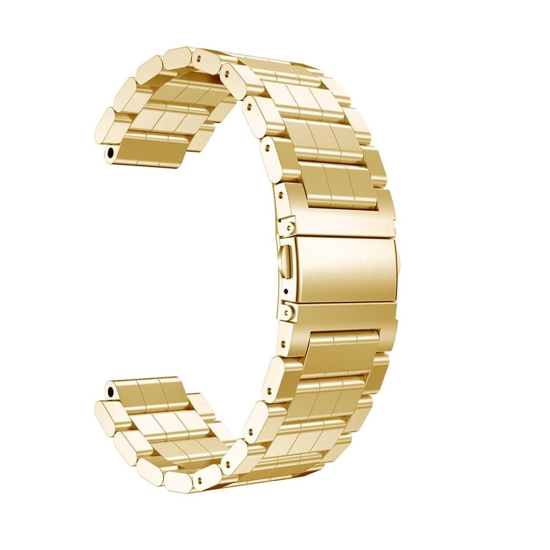 For Garmin Vivoactiveアセテート手首腕時計、ステンレススチールブレスレットスマート腕時計バンドストラップ Silver B078N43CMN